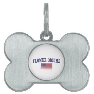 Flower Mound US Flag Pet ID Tag