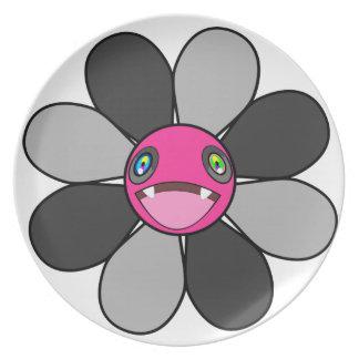 Flower nibbler dinner plate