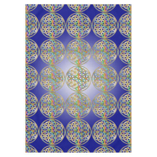 Flower Of Life / Blume des Lebens - colorful shine Tablecloth