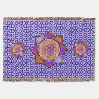 Flower of Life / Blume des Lebens - Lotus violet Throw Blanket