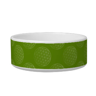 Flower Of Life / Blume des Lebens - pattern green Bowl