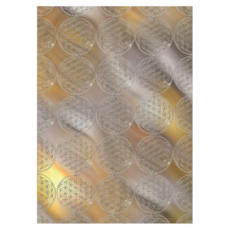Flower Of Life / Blume des Lebens - silver Tablecloth