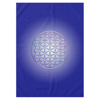 Flower Of Life / Blume des Lebens - violet shine Tablecloth