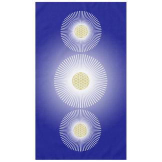 Flower Of Life / Blume des Lebens - white rays Tablecloth