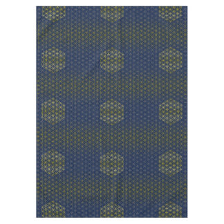 Flower of Life - grid pattern gold silver Tablecloth