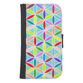 Flower of Life Pattern – Multicoloured Samsung S4 Wallet Case
