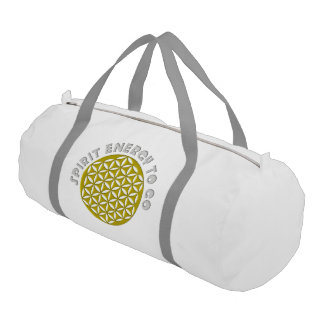 Flower Of Life - punched - SPIRIT ENERGY TO GO Gym Duffel Bag
