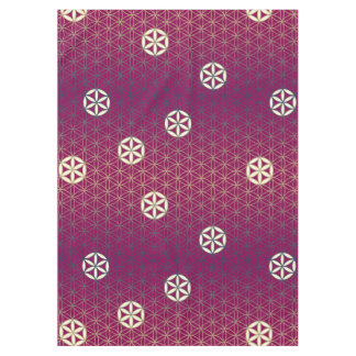 Flower Of Life - seamless pattern - blue beige Tablecloth