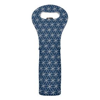 Flower of Life - silver pattern + your backgr. Wine Bag