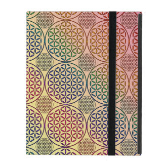 Flower of Life - stamp grunge pattern 1 iPad Folio Case