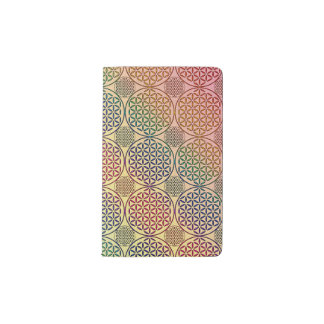 Flower of Life - stamp grunge pattern 1 Pocket Moleskine Notebook