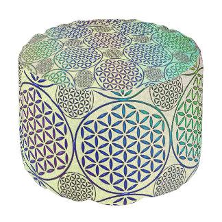 Flower of Life - stamp grunge pattern 2 Pouf