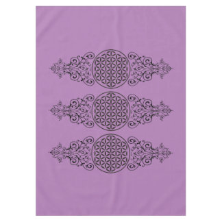 Flower Of Life - stamp ornaments black I Tablecloth