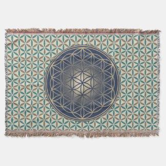 Flower of Life - stamp pattern - BG 1 Throw Blanket