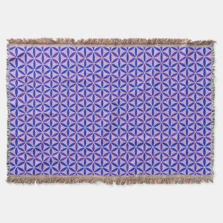 Flower of Life - stamp pattern - BG 4 Throw Blanket
