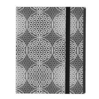 Flower of Life - stamp pattern - grey iPad Case