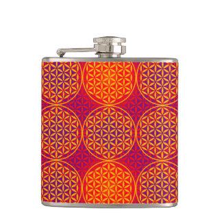Flower of Life - stamp pattern - orange pink Flasks