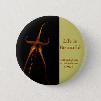 Flower Orchid 6 Cm Round Badge