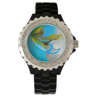 Flower Orchid Vibrant Wristwatches