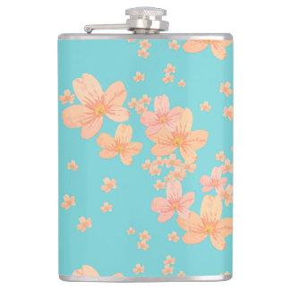 Flower Pattern 1 Hip Flask