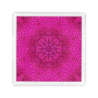 Flower Pattern   Acrylic Trays, 2 shapes 4 sizes