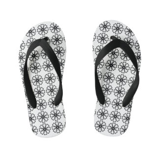 Flower Pattern - Custom Flip Flops, Kids Thongs