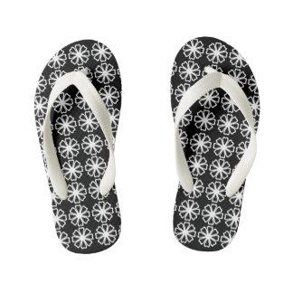 Flower Pattern - Custom Flip Flops, Kids Thongs