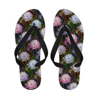 Flower pattern Ladies Flip Flops