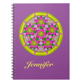 Flower pattern photo notebook. spiral notebook