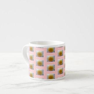 Flower pattern. Pink Background. Espresso Cup