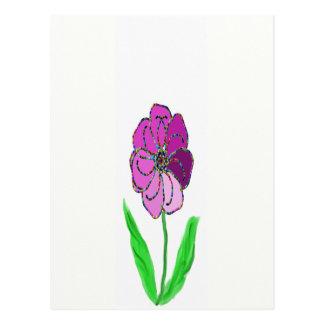 flower pinwheel postcard