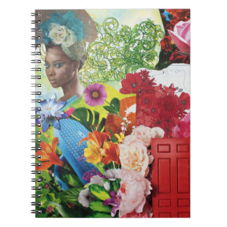 Flower Power Collage Notebook