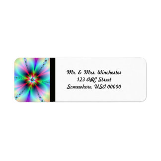 Flower Power Fractal Return Address Label
