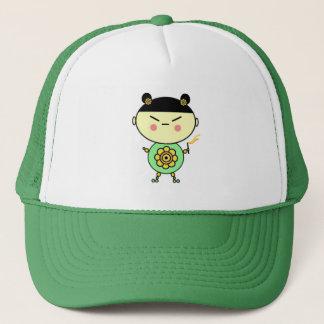 Flower Power Girl Trucker Hat