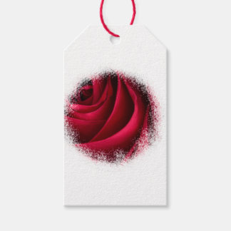 Flower Red Rose Gift Tags