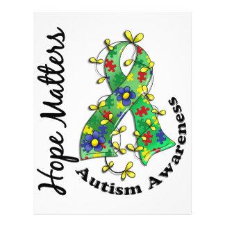 Flower Ribbon 4 Hope Matters Autism 21.5 Cm X 28 Cm Flyer