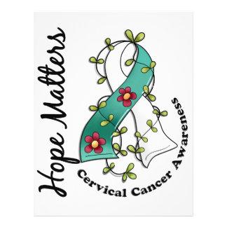 Flower Ribbon 4 Hope Matters Cervical Cancer 21.5 Cm X 28 Cm Flyer