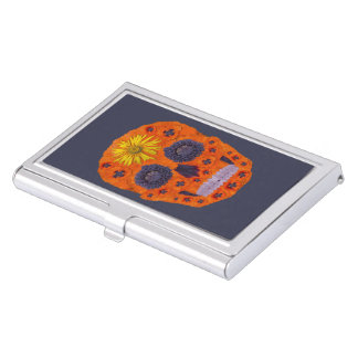 Flower Skull 1 Business Card Cases