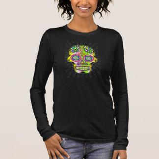 Flower skull 1 long sleeve T-Shirt