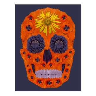 Flower Skull 1 Postcard
