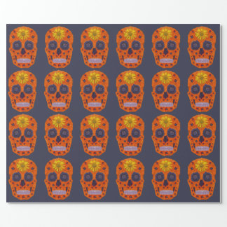 Flower Skull 1 Wrapping Paper