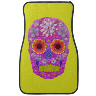 Flower Skull 2 Car Mat