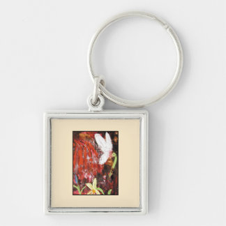 Flower, Snowdrop. Key Ring