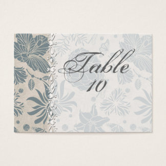 Flower Stencil Wedding Seating Cards