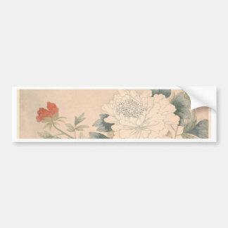Flower Study - Yun Bing (Chinese) Bumper Sticker