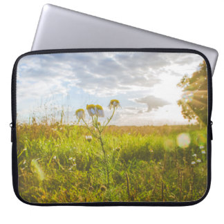 Flower Sunset Happy Laptop Sleeve