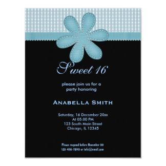 Flower Sweet 16 11 Cm X 14 Cm Invitation Card