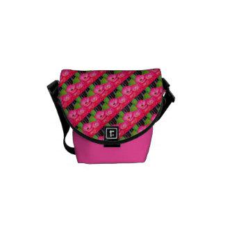 Flower Tile Design Courier Bag