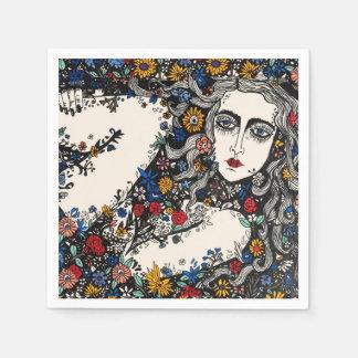 Flower woman napkin disposable napkin