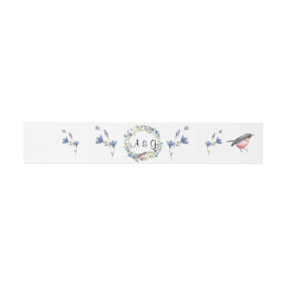 Flower wreath belly band invitation belly band